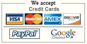 Pay with credit card or select Pay Pal for your payment method